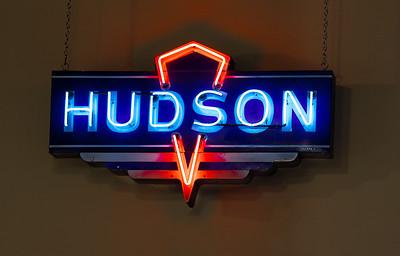 Hudson Automobile Sign.