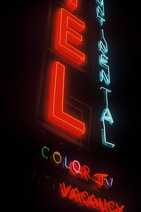 One of the first neons I photographed, probably 20 years ago.  The sign isn't there now, as many older neons aren't, but I always liked the colors in this one.