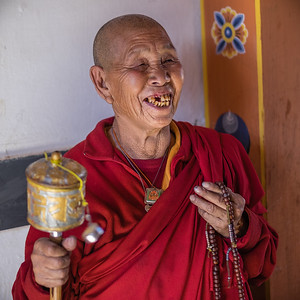 Bebzur nunnery.  Bhutan--October 2014--The People, Places, Culture