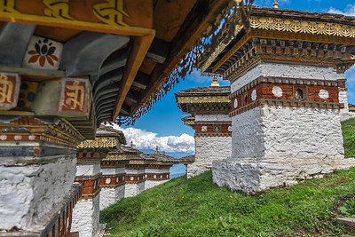 "Bhutan--October 2014--The People, Places, Culture. 108 ""Chortens"" at Dochu La pass."