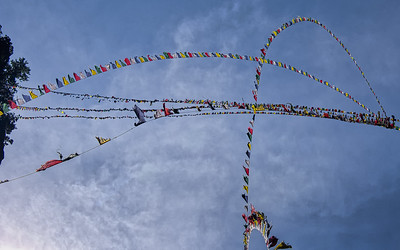 Prayer Flags.  Bhutan--October 2014--The People, Places, Culture