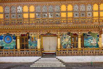Punakha Dzong . Ancient Hand-Painted Monasteries. Bhutan--October 2014--The People, Places, Culture