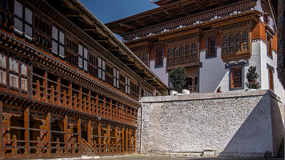 Trongsa Dzong (1543+) (Dzong: A Fortress/Monastery). Bhutan--October 2014--The People, Places, Culture