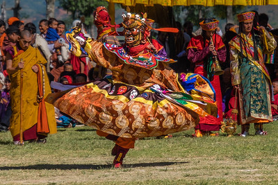 Festival Dancer. Bhutan--October 2014--The People, Places, Culture