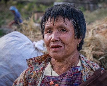 Lady near Paro. Bhutan--October 2014--The People, Places, Culture