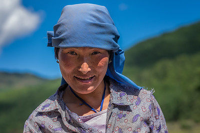 Woman plowing her field. Bhutan--October 2014--The People, Places, Culture