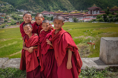 Young Monks in Thimpu.  Bhutan--October 2014--The People, Places, Culture
