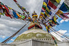 Boudhanath Stupa, Buddhist Temple, in Kathmandu, Nepal, September, 2014