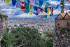 Swayambhunath Monastery, Kathmandu. People, Religion, Life in Kathmandu and Pokhara, Nepal, September, 2014