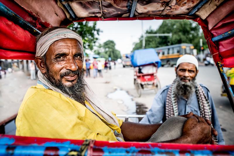 Rickshaw driver, Delhi, India, 2018