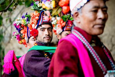 Brokpa Dancers, Ladakh, India, August 2018