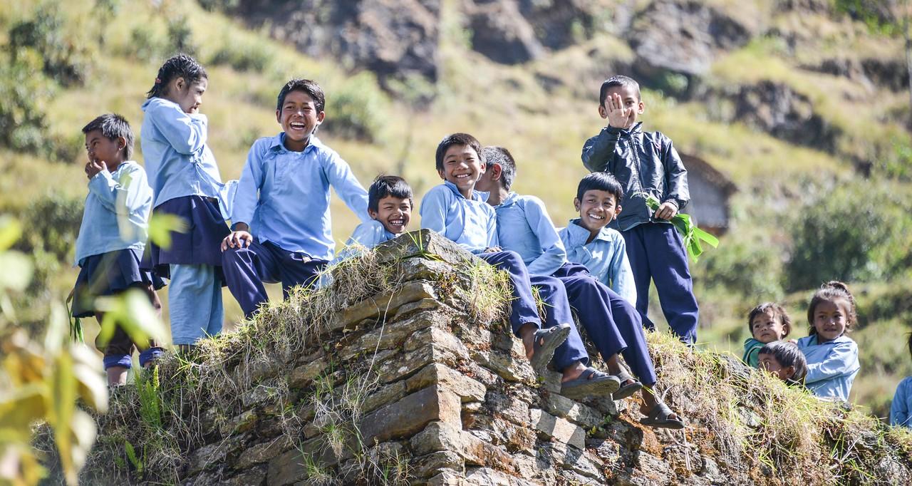 School children, Nepal