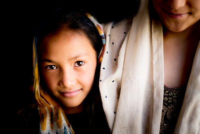 Muslim girl, Northern India