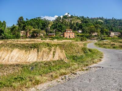 The drive from Kathmandu to Changu Narayan Temple