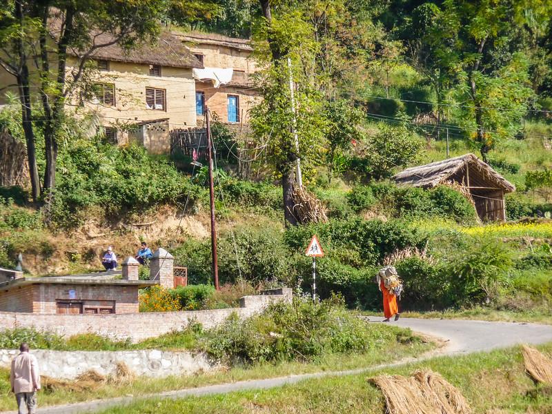 Driving from Kathmandu to Changu Narayan, Nepal