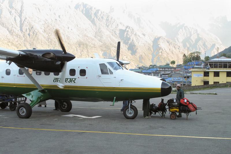 vlucht naar Kathmandu