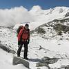 Rogier op weg naar High Camp