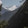 allerlaatste blik op Nuptse en Mount Everest
