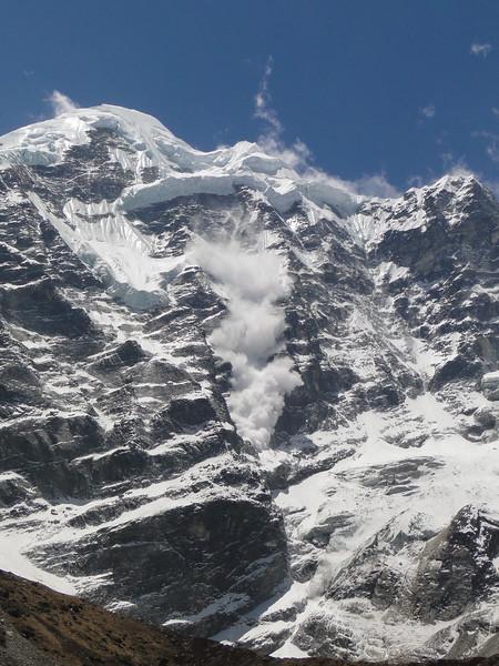 lawine van de Mera Peak