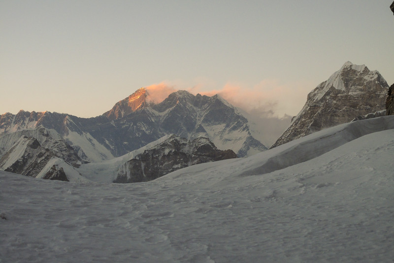 Avondlicht op Mt Everest