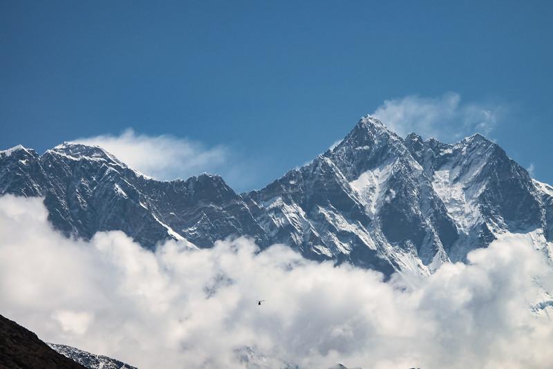 Mt Everest - Lotse, vanuit Pangboche