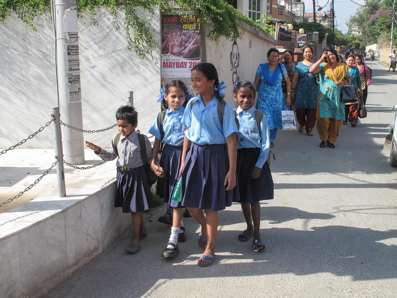 schooljeugd Kathmandu