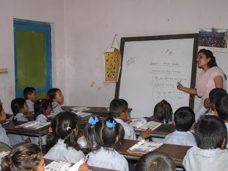 schooltje in Kathmandu