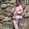 meisje in Pangboche<br /> girl at Pangboche