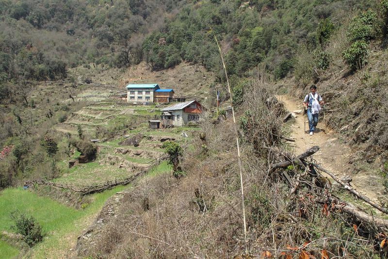 afdalen naar Hinku Dranka