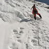 Rogier klimt de ijswand als eerste