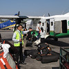 Vlucht naar Lukla (2800m) met Twin Otter<br /> Flight to Lukla (2800m) with Twin Otter