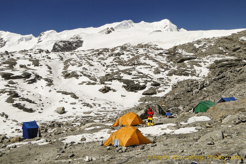 Mera Peak base camp, Mera La 5300m
