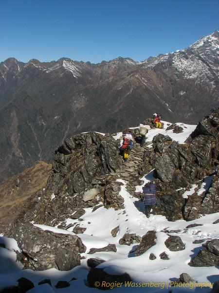 van Cliola Kharka - Kothe (3700m)