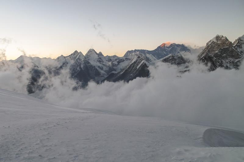 Avondlicht op Mt Everest