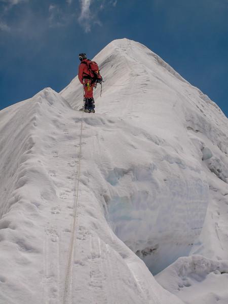 top Island Peak in zicht!