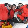 Ang + Marijn + Mingmar op top Island Peak
