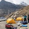 kamp in Khare (4900m)