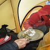 avondmaal in de tent