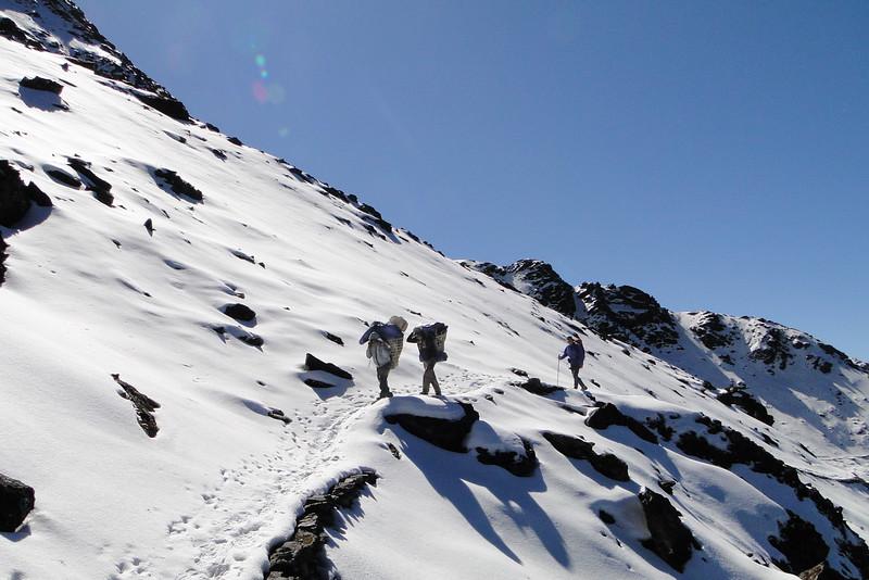 sneeuw: lastig voor onze dragers