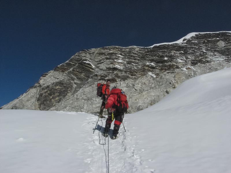 Rogier en Ang op de gletsjer