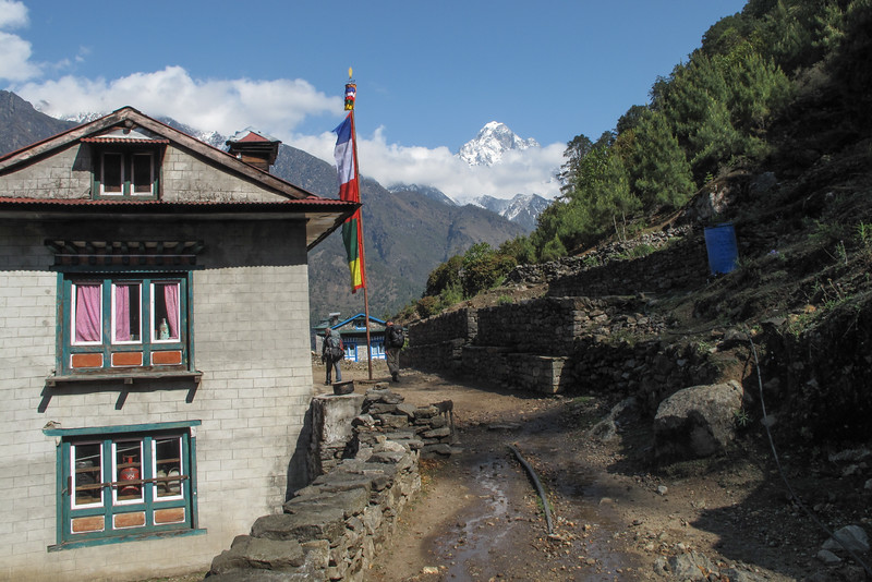 op de Everest Base Camp trail