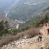 klim naar Tengboche