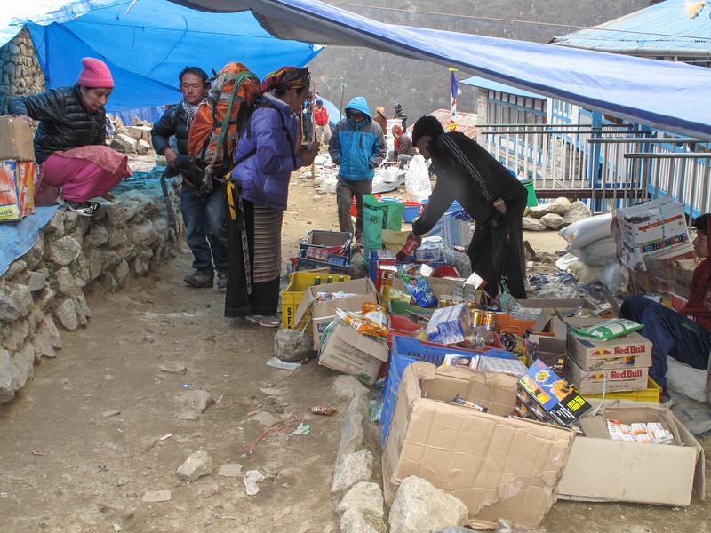 markt in Namche Bazar