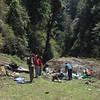 lunch vlakbij Dzomshawa (2683m)