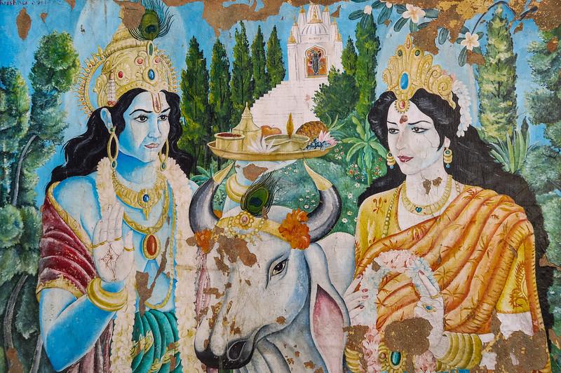 Paintings at Pashupatinath Temple