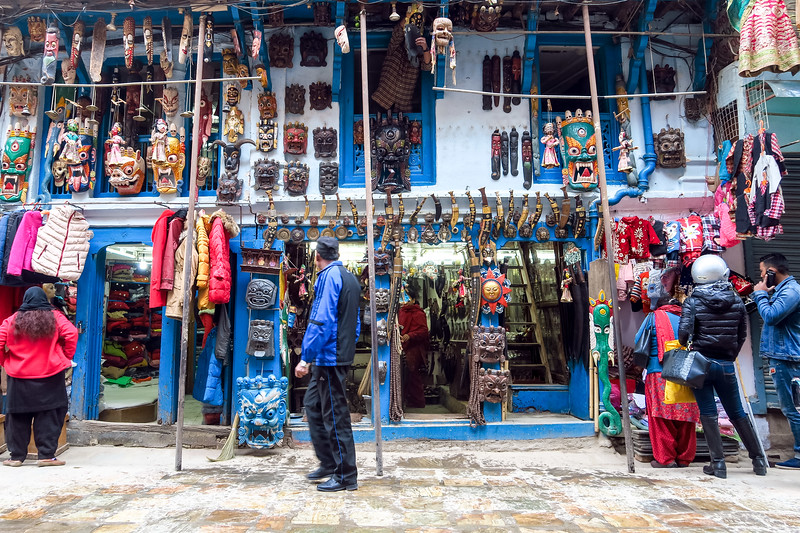 Indra Chowk Market in Kathmandu