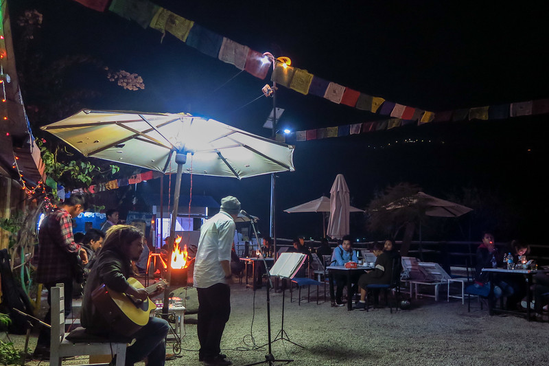 Live music in Pokhara at night