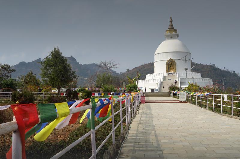 Visiting the World Peace Pagoda in Pokhara, Nepal