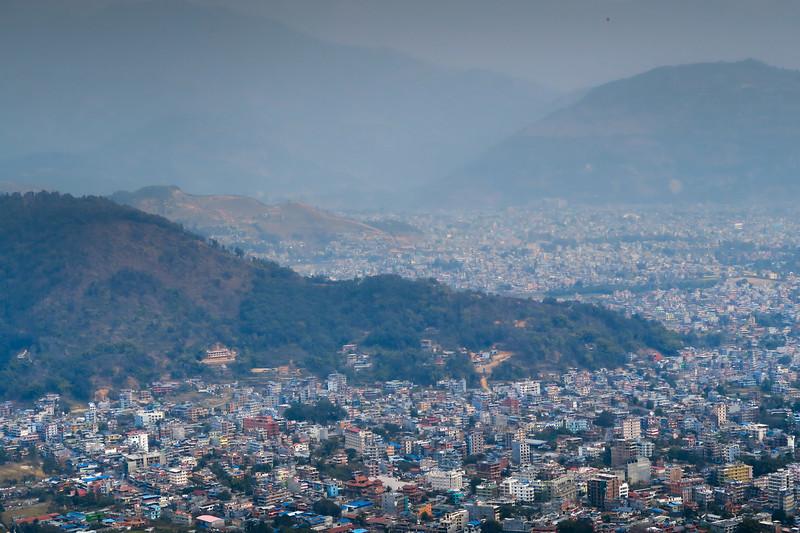 Views of Pokhara from the World Peace Pagoda