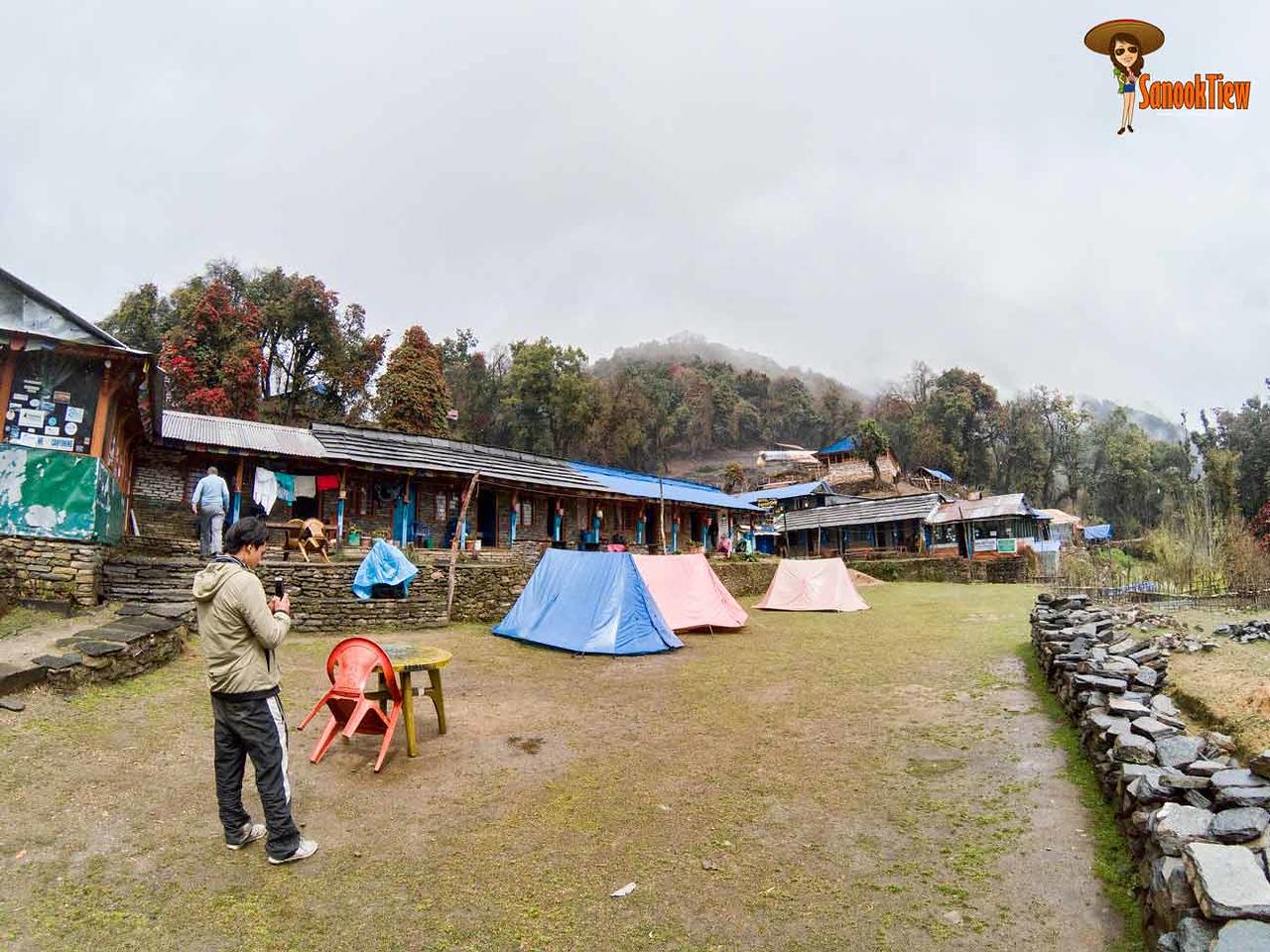 Mardi Himal trekking Nepal เทรคกิ้ง มาดิฮิมาล เนปาล Forest Camp